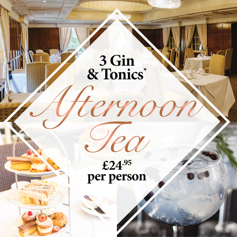Afternoon Tea with 3 Gin* & Tonics
