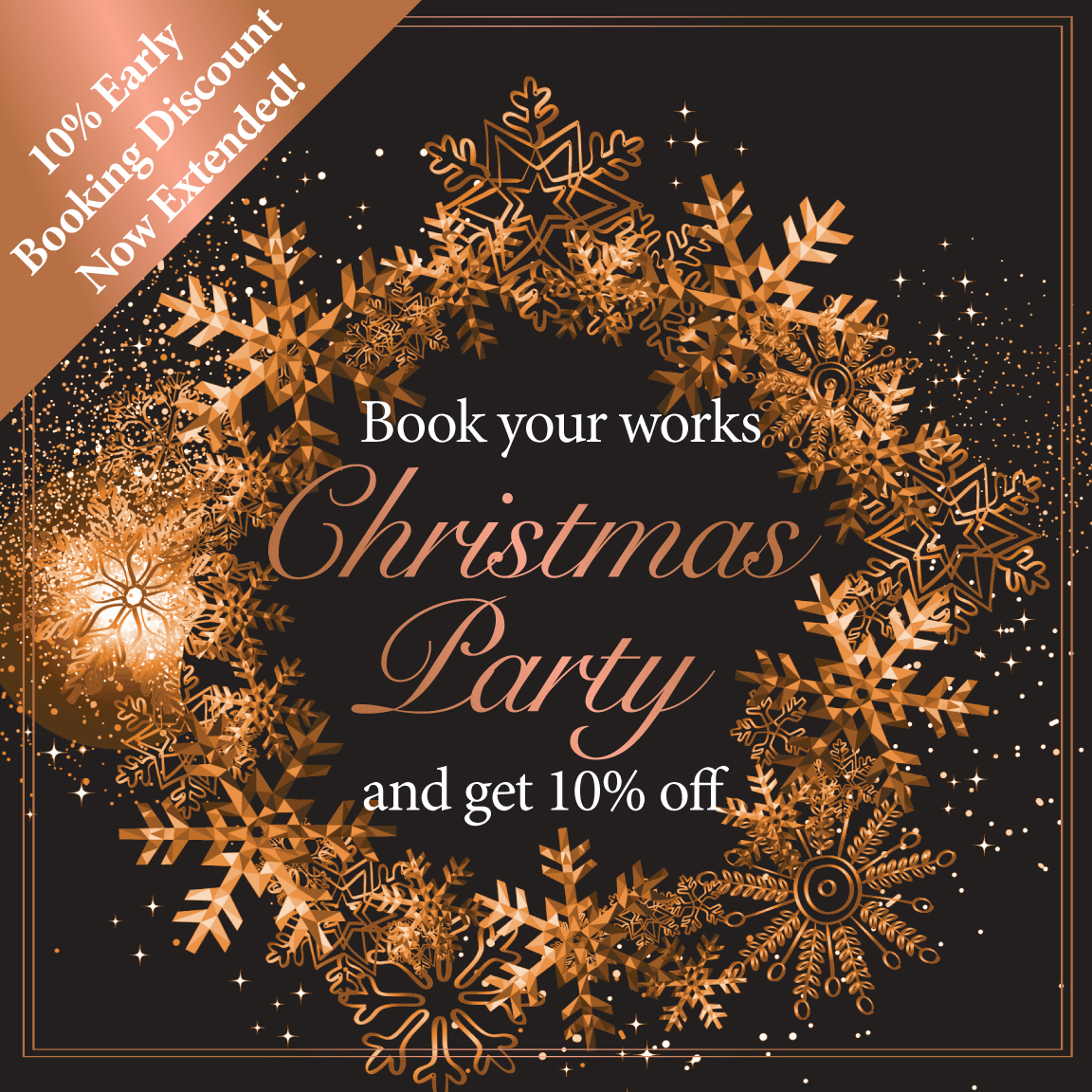 10% Off Work Christmas Party Bookings