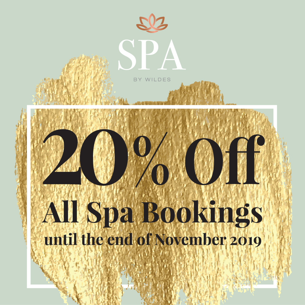 20% Off All Spa Bookings