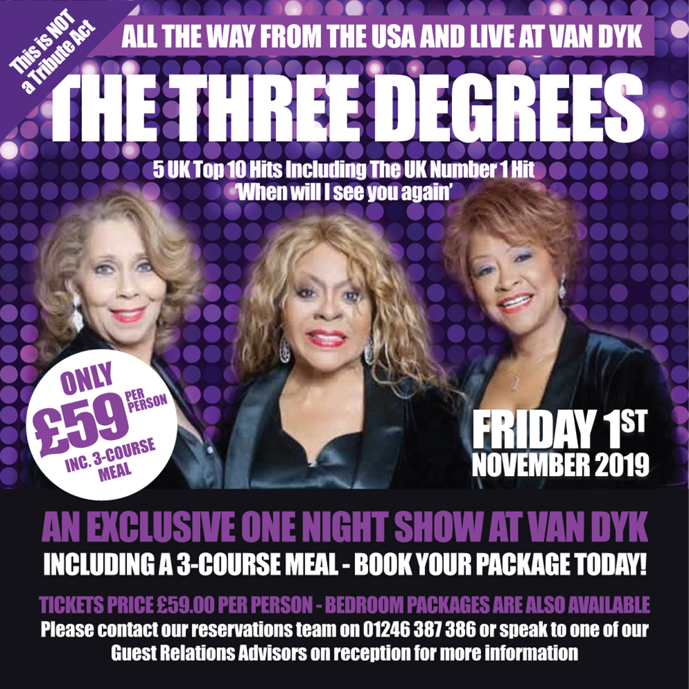 The Three Degrees (This is NOT a Tribute Act)